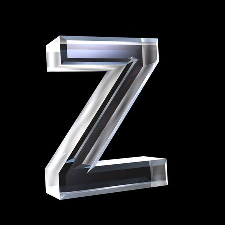 letter Z in glass 3D Stock Photo - 6185360