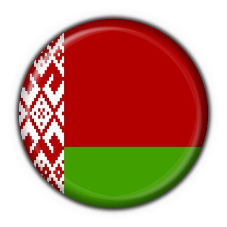 belorussian: belorussian button flag round shape Stock Photo