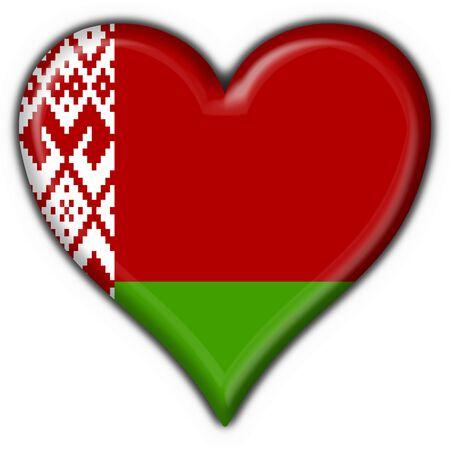 belorussian: belorussian button flag heart shape