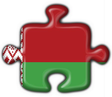 belorussian: belorussian button flag puzzle shape