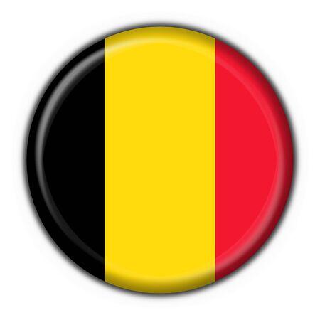 french flag: belgium button flag round shape