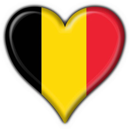 belgium button flag heart shape Stock Photo - 6898690
