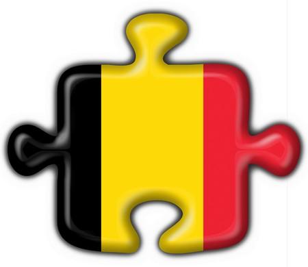 belgium button flag puzzle shape  Stock Photo - 6898669