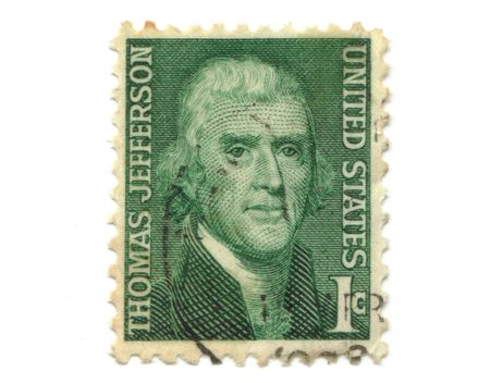 old postage stamp from USA 1 cent - Thomas Jefferson Stock Photo - 7172615
