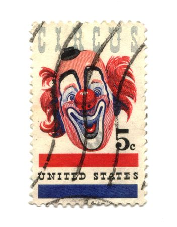 Old postage stamp from USA five cent - Circus Stock Photo - 7172622