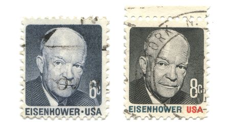 eisenhower: old postage stamps from USA - Eisenhower