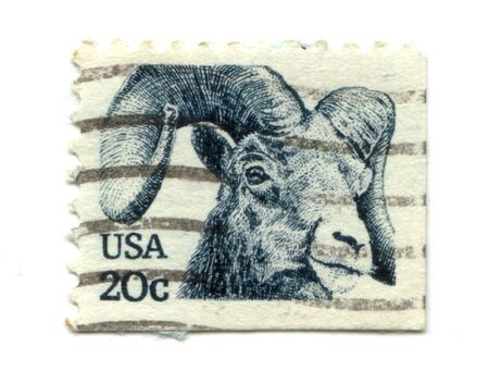 old postage stamp from USA with Goat  Stock Photo - 7172611