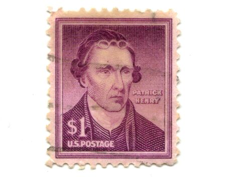 henry: Old postage stamps from USA one dollar - patrick Henry