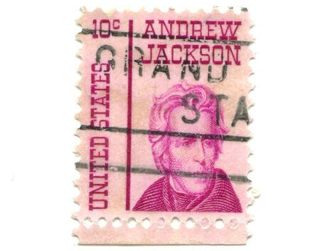 andrew: Old postage stamps from USA ten cents - Andrew Jackson