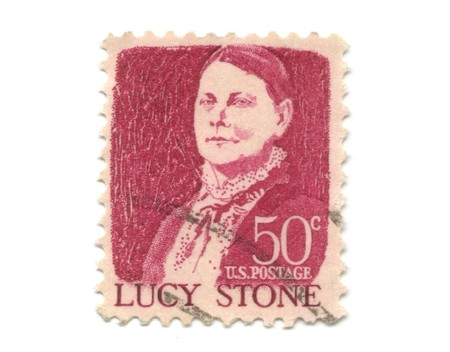 old postage stamps from USA - Lucy Stone - 50 cent Stock Photo - 7226303