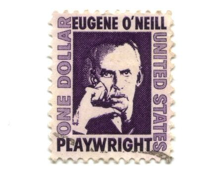Old postage stamps from USA one dollar - Eugene O'Neill Stock Photo - 7226305