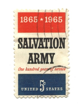 five cents: Old postage stamp from USA five cents - Salvation Army