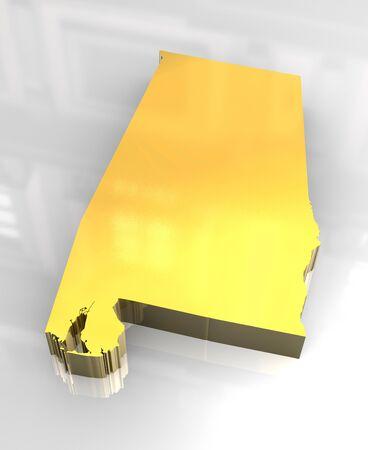 3d made - flag golden of Alabama photo