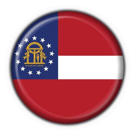 Georgia (USA State) button flag round shape - 3d made photo