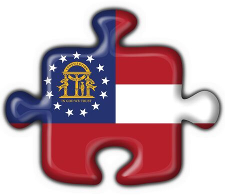 Georgia (USA State) button flag puzzle shape - 3d made photo