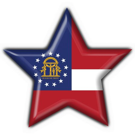 Georgia (USA State) button flag star shape - 3d made photo