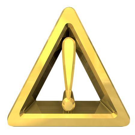 exclamacion: Signo de atención con el símbolo de exclamación sobre un fondo blanco de advertencia de peligro  Foto de archivo