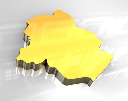 3d made - golden map of brussels Stock Photo - 7269948