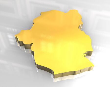 3d made - golden map of brussels Stock Photo - 7269949