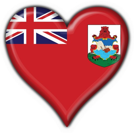 bermuda button flag heart shape - 3d made photo