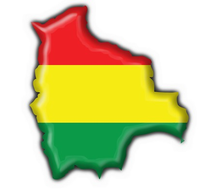 bolivian button flag map shape - 3d made Stock Photo - 7290977
