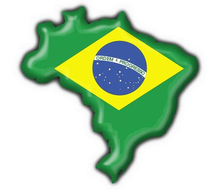 brazilian button flag map shape - 3d made photo