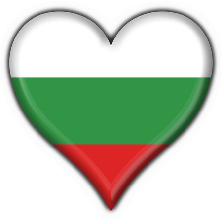 bulgaria button flag heart shape - 3d made photo