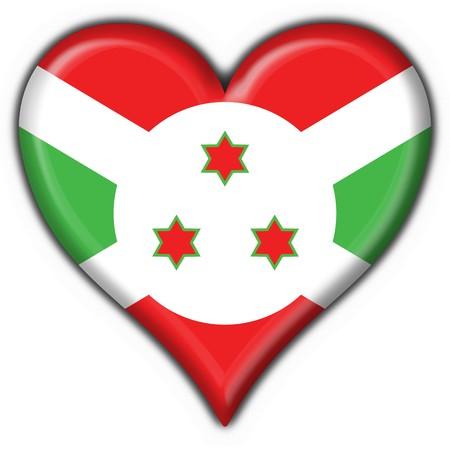 burundi: burundi button flag heart shape - 3d made
