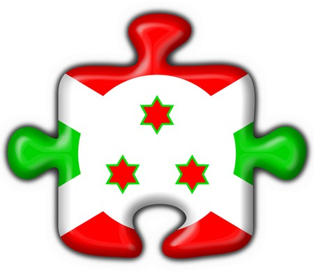 confederation: burundi button flag puzzle shape - 3d made Stock Photo