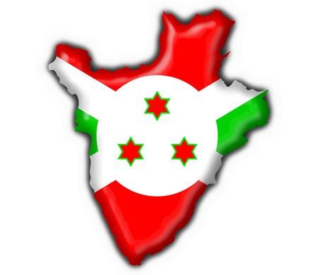 burundi: burundi button flag map shape - 3d made