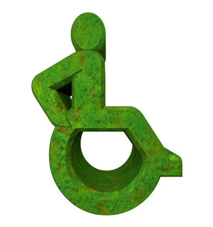 Universal wheelchair symbol in grass (3d made) Stock Photo - 7964600