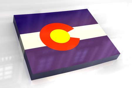 colorado flag: 3d made - flag map of Colorado