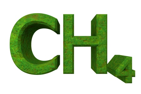 methane: 3d made - chemistry formulas in Grass of Methane