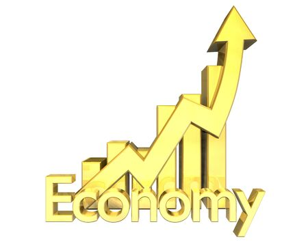 attainment: 3d made Economy - Statistics graphic in gold