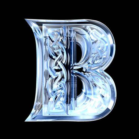3d made - illustration of Celtic alphabet letter B illustration
