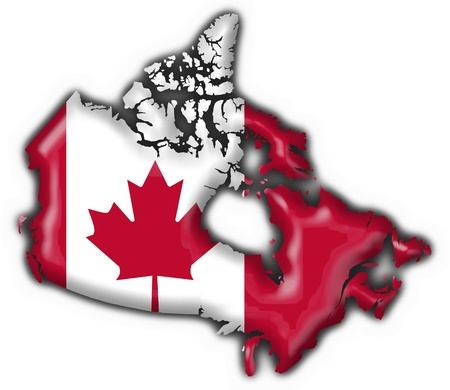 canada button flag map shape - 3d made photo