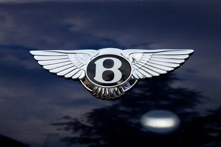 Bentley Emblem - außerhalb shoting Standard-Bild - 9489041