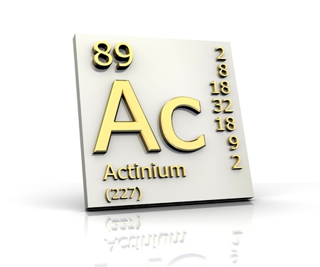 Actinium form Periodic Table of Elements - 3d made photo