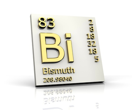 bismuth: Bismuth form Periodic Table of Elements - 3d made