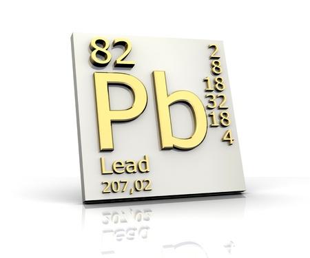 Führen Sie Form Periodic Table of Elements - 3d gemacht Standard-Bild - 10170798
