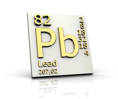 learn and lead: Lead form Periodic Table of Elements - 3d made