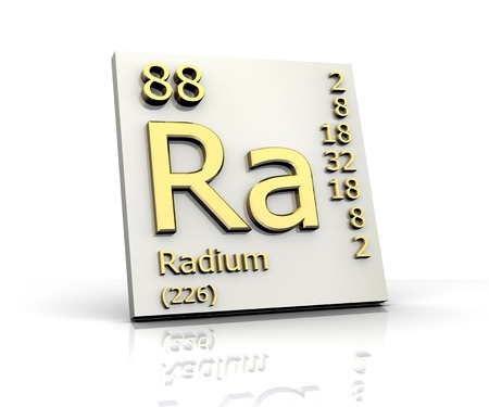 Radium form Periodic Table of Elements - 3d made Stock Photo - 10170823