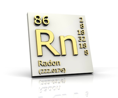 Radon form Periodic Table of Elements - 3d made Stock Photo - 10170808