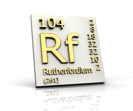 Rutherfordium form Periodic Table of Elements - 3d made Stock Photo - 10170831