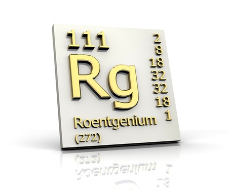 experimentation: Roentgenium Periodic Table of Elements - 3d made