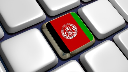 recollection: Keyboard (detail) with Afghanistan key - 3d made