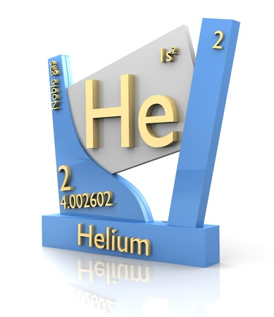 Helium form Periodic Table of Elements - 3d made photo