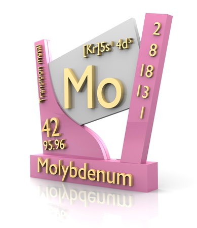 Molybdenum form Periodic Table of Elements - 3d made photo