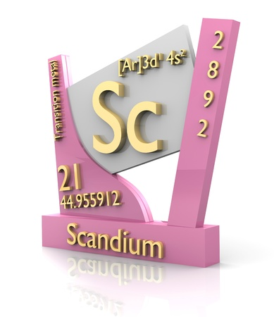 Scandium form Periodic Table of Elements - 3d made photo