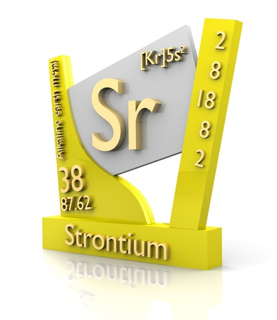 strontium: Strontium form Periodic Table of Elements - 3d made